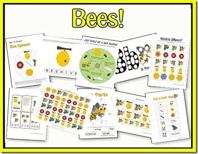 Educational Freebie: All About Bees study unit