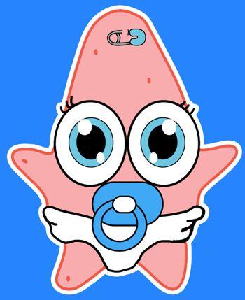 finished-baby-patrick-star.png 350×429 píxeles | Patrick ...