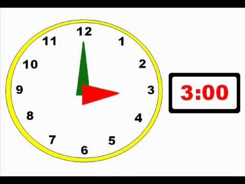 Telling Time Video---this is a GREAT intro.  I love how it's broken down into showing what you do during that time of day too.