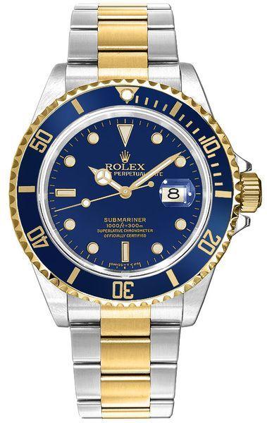 Rolex Submariner Date Blue Dial Men's Watch 16613LB