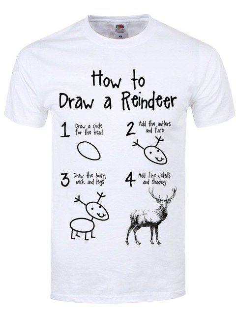 Znalezione Obrazy Dla Zapytania Jak Narysowac Koszule White Tshirt Men Reindeer Tee Tee Shirts