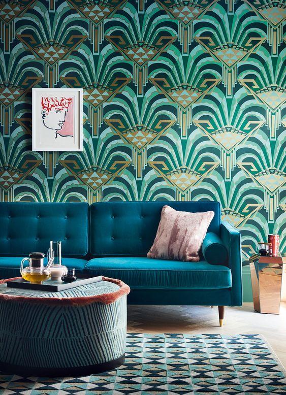 Art Deco interiors are making a big comeback. Vivid geometrics, luxe materials and vibrant colour celebrate the bold side of opulent Art Deco design