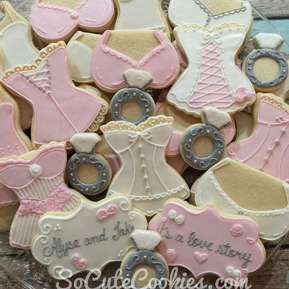 """Lingerie Bridal Shower Cookies #weddingshower…"