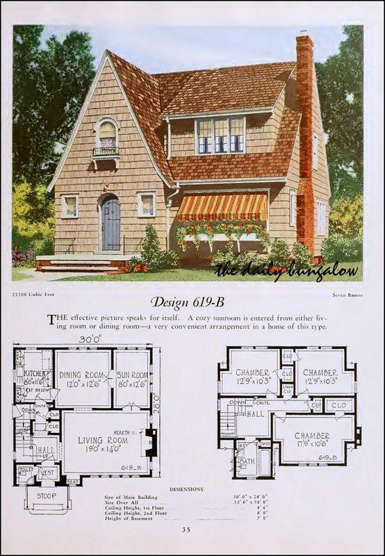 1920 National Plan Service Sims House Plans Vintage House Plans Vintage House