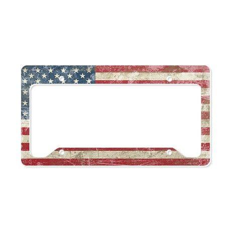 Vintage USA Flag License Plate Holder-$19.50