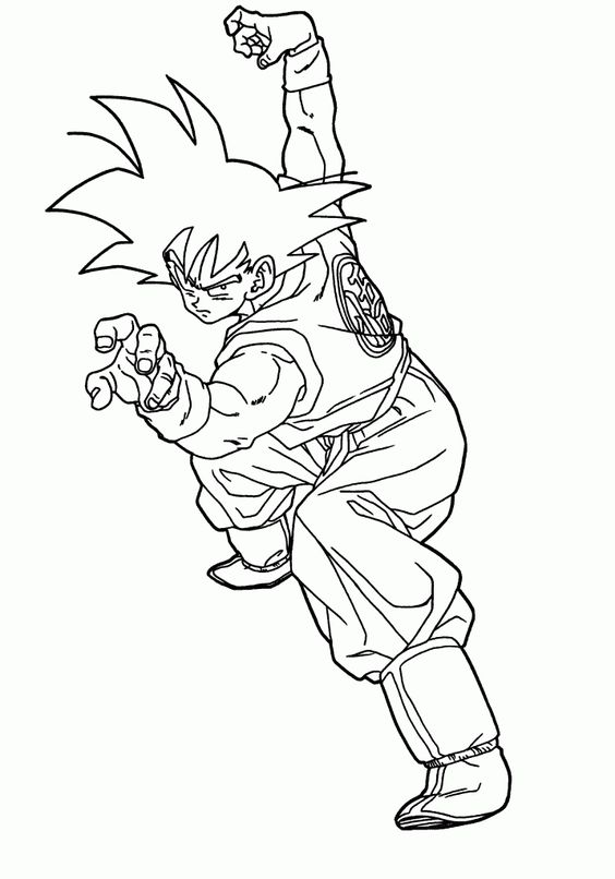 Nice Print Dragon Ball Z Coloring Pages Colouring Pages