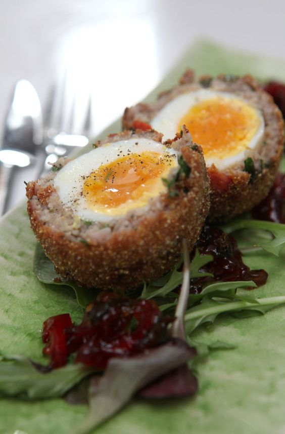 Chef Simon Rimmer and the One Brand's products makes Chorizo Scotch Eggs  http://www.florencefinds.com/category/food-and-drink/light-bites/