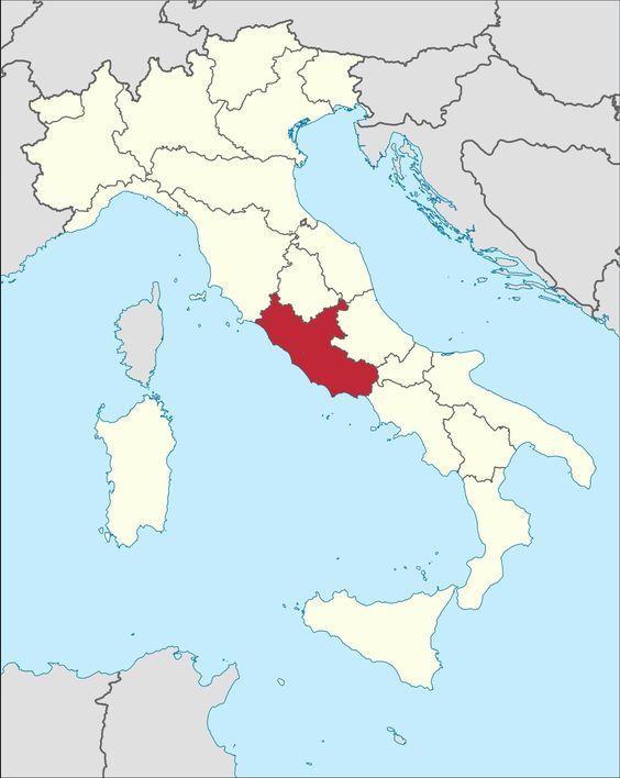 Lazio Italia It Lazio To Do Italien Karte Italien Und
