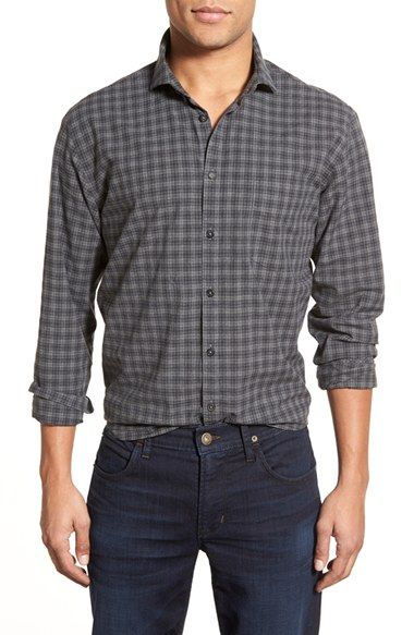 Billy Reid 'John T.' Standard Fit Plaid Sport Shirt