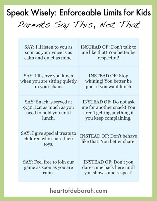How To Get Your Kids To Behave Without Yelling: Enforceable Limits |  Chains, Create And Parents