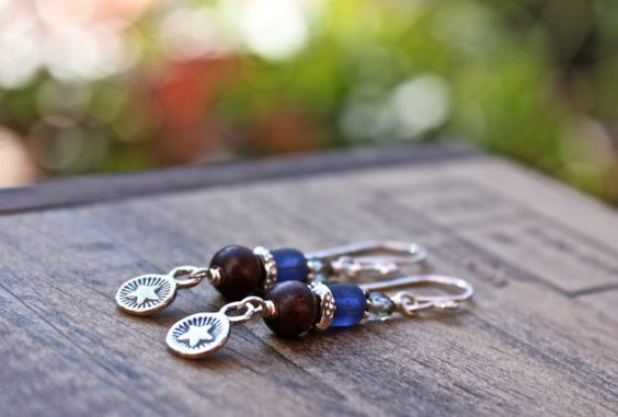 Bright Star Earrings. Boho Hippie Earrings in by bellacornicello