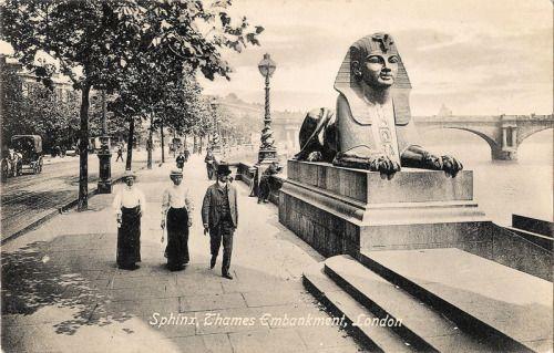 """Sphinx, Thames Embankment, London.""  From 1913."