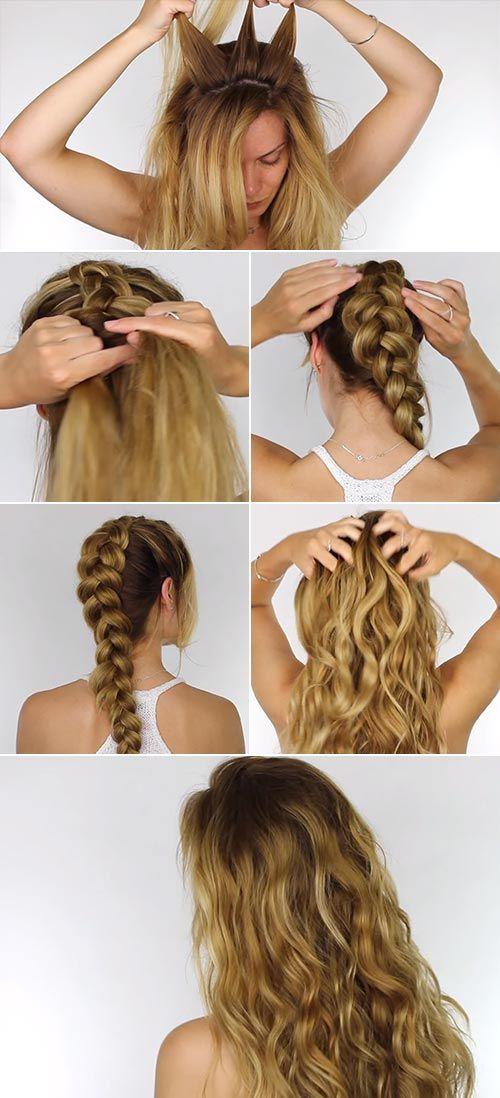14 Easy Ways To Style Your Hair In Perfect Beach Waves In 2020 Beachy Waves Hair Tutorial Damp Hair Styles Perfect Beach Waves