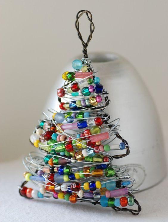 Beaded tree ornament