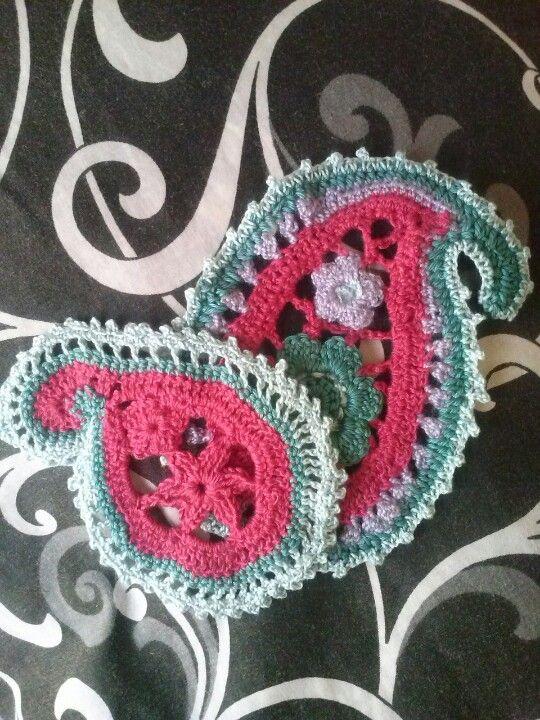 Free Crochet Paisley Motif Pattern : Crochet paisley pattern #crochet Crochet Things I create ...