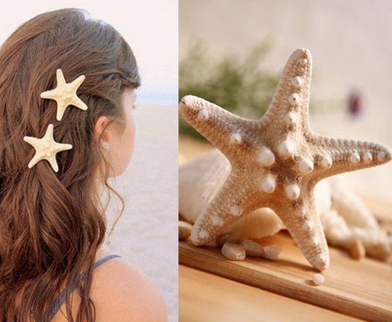 Handmade Starfish Hair Accessory:
