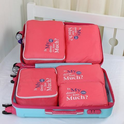 السعر 3 دك منظم شنطه السفر للملابس الداخليه مكونه من 5 قطع ومفيده لعزل الملابس نظيفه و المتسخه Travel Bag Organization Duffel Bag Travel Travel Handbags