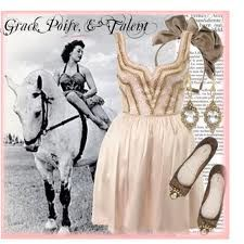 Circus girl outfit with accessories