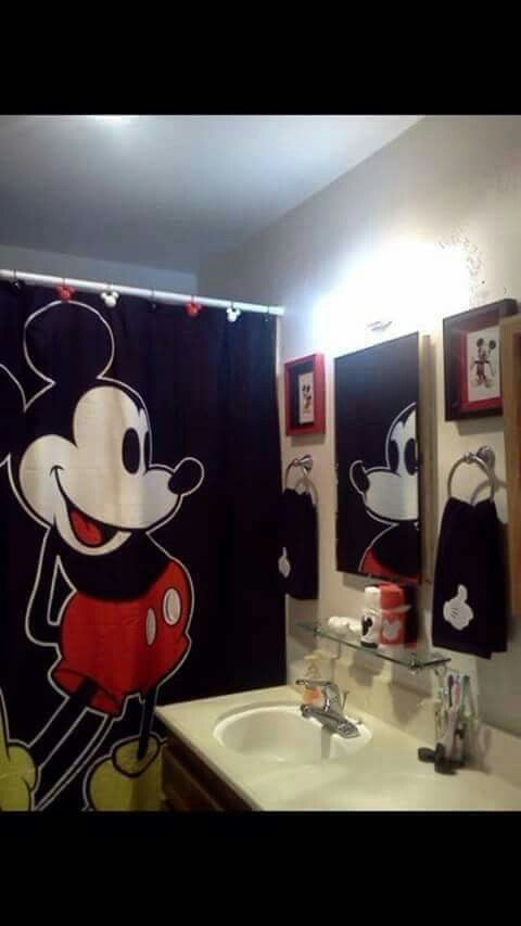 Mickey Mouse Shower Set I Love Mickey Can T Wait To Re Do My Bathroom Mickey Mouse Bathroom Mickey Mouse Kitchen Mickey Bathroom