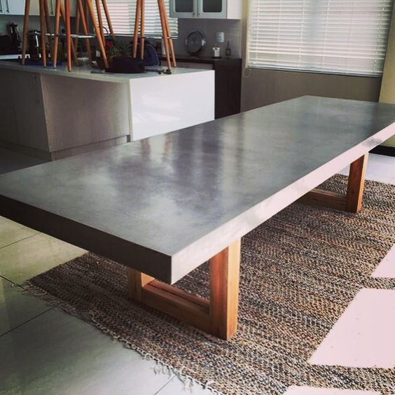 Concrete Dining Room Table: Legs, Tables And Concrete Dining Table On Pinterest