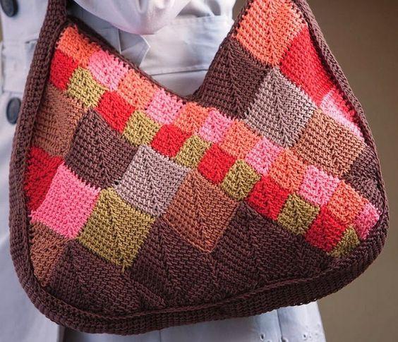 borse uncinetto con schemi più una a maglia