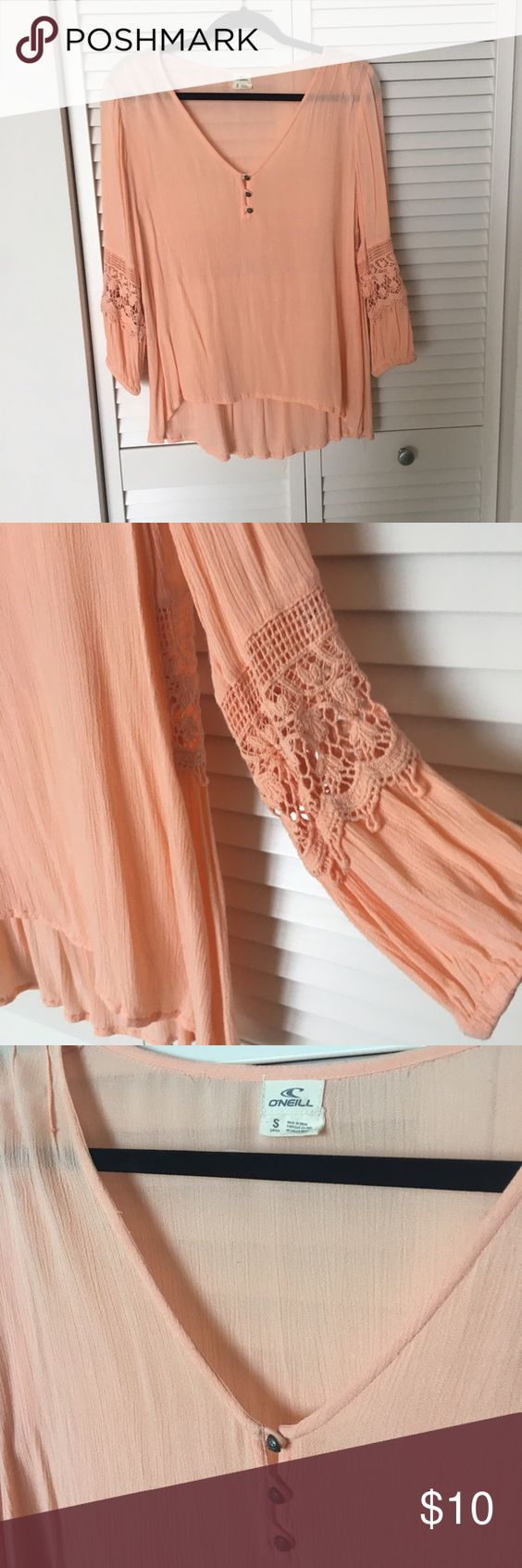 O'Neill Flowy Top Gently used. No stains, no holes. Always open to offers!!! The last photo shoes the same style Top, but a different color. O'Neill Tops