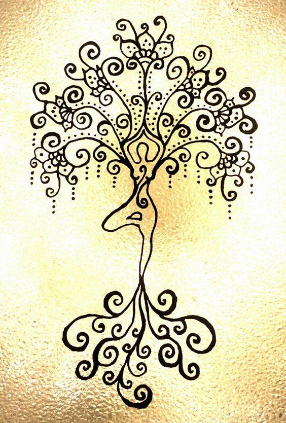 Yoga Tree Pose Tattoo Llll