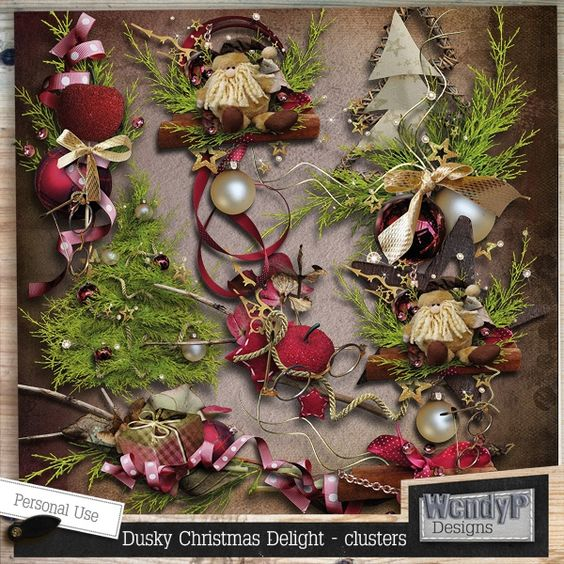 Dusky Christmas Delight - Clusters