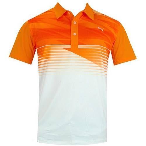 Puma Men 39 S Golf Indigital Polo Shirt Vibrant Orange Ebay