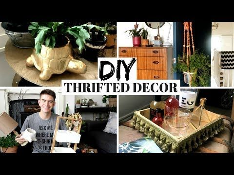 Thrifted Diy Home Decor Charity Shop Upcycle Challenge Inspired