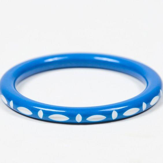 Splendette Narrow French Blue Bangle