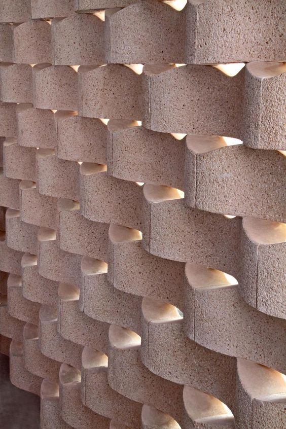 Trama by Castelatto #concrete_block  #block_screen #perforated_block