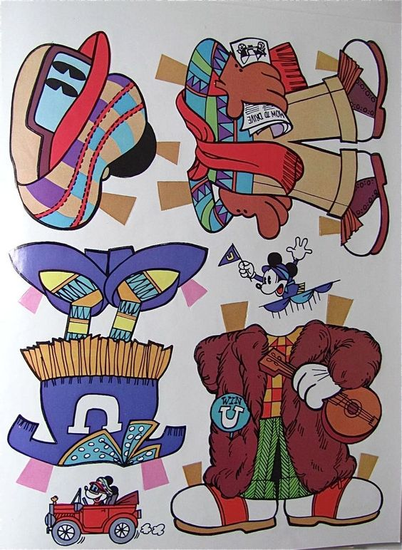 Mickey & Minnie Steppin' Out Paper Doll Set Uncut Whitman Vintage 1977 from barbgrrlzdolls on Ruby Lane