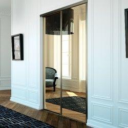 Portes De Placard Coulissantes Miroir Bronze Achat En Ligne Miroir Bronze Placard Coulissant Porte Coulissante