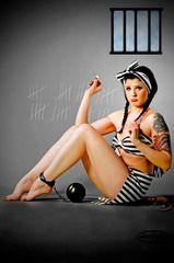...jail house blues pin up...