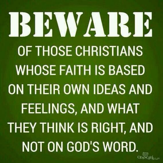 Image result for picture beware of those Christians whose faith is based