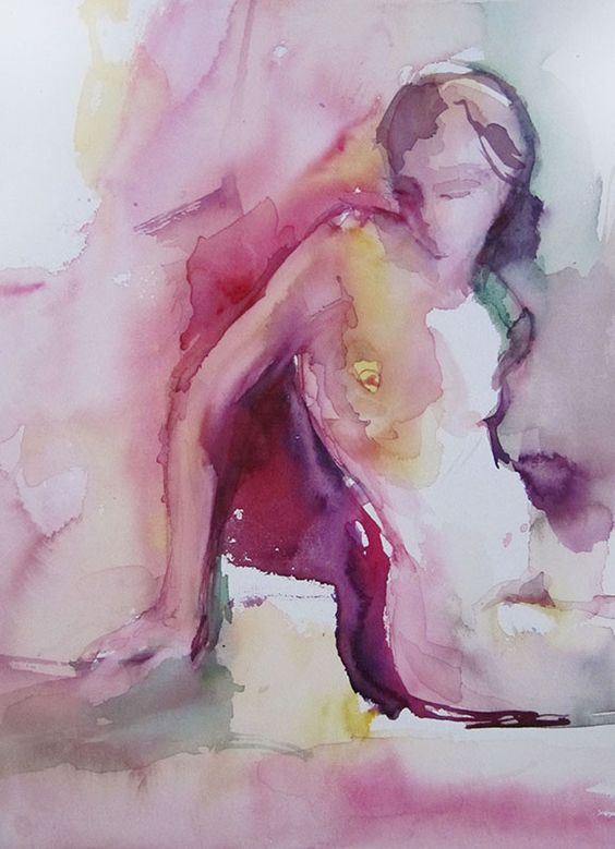 28 x 38 cm watercolor on paper Canson  Sylvia Baldeva©