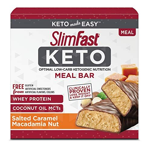 Slimfast Keto Meal Replacement Bar Salted Caramel Macada Https Www Amazon Com Dp B07xypsz Meal Replacement Bars Keto Meal Replacement Keto Diet Fast Food
