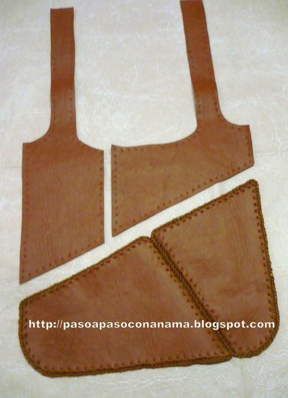 Todo paso a paso cartera de cuero ecologico bolsos - Hacer bolsos de tela paso a paso ...