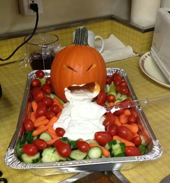 Pumpkin Veggie Dip Halloween Potluck Halloween Food For Party Spooky Halloween Party