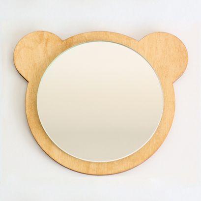 Miroir ourson naturel bricolage et boutiques for Miroir a coller ikea