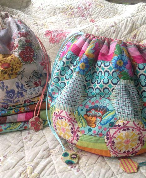Hexagon Dilly-Bag Pattern   Brigitte Giblin Quilts