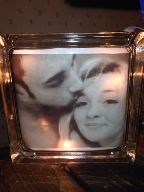 Personal Photo lighted glass block.  Check out my custom made lighted glass blocks at my Etsy store IrwinRags!https://www.etsy.com/shop/IrwinRags