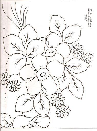 Muitas Flores Com Imagens Seda Pintada Riscos Para Pintura