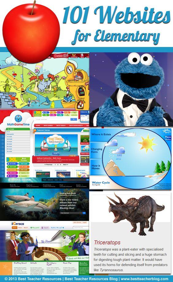 101 Websites for Elementary Teachers Supper cool list