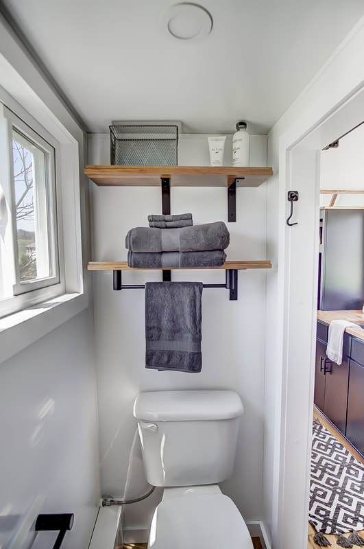 The Last Mohican A Charming 20 Tiny House By Modern Tiny Living Tiny Living Tiny House Exterior Tiny House Bathroom