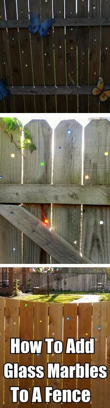 how to add glass marbles to a fencehttp://diycozyhome.com/category/garden-and-yard/page/3/