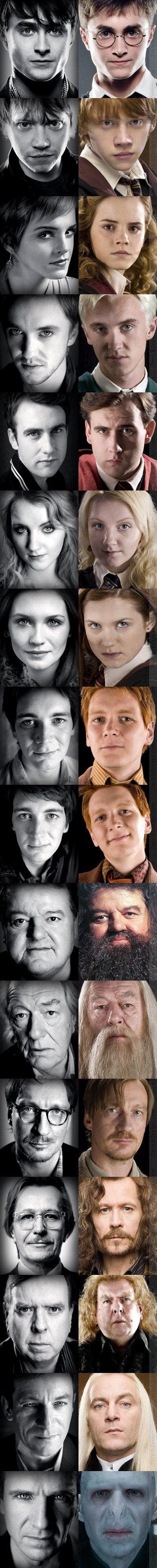 Harry Potter Actors.. As themselves and their characters