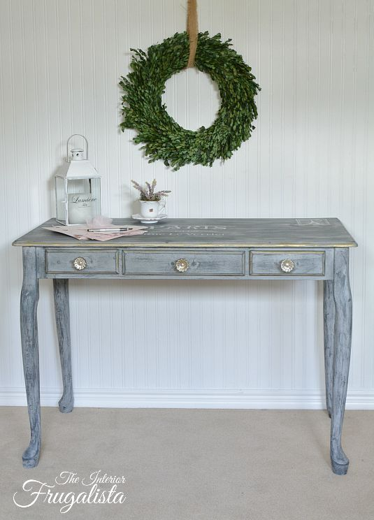 Queen Anne Desk Makeover | The Interior Frugalista