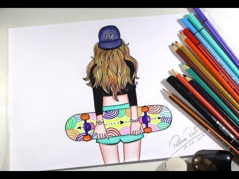 Como Desenhar Garota Tumblr How To Draw Girl Tumblr Youtube
